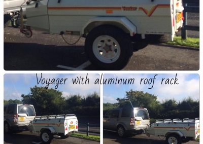 Voyager with an aluminum roof rack